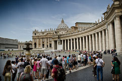 St. Peter's Square, Vatican Stock Image