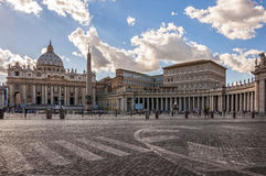 St. Peter`s Square Stock Image