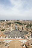 St Peter's Square and Vatican City Stock Photo