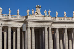 St. Peter`s Square, Vatican City, Italy. Royalty Free Stock Image