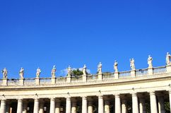 St. Peters Square Vatican City Royalty Free Stock Photos