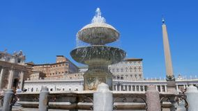 Vatican City, St. Peter`s Square, Rome, Lazio, Italy. St. Peter`s Square, Vatican city, the most famous places in Italy stock video