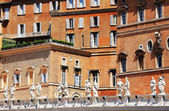 St. Peter's square in Vatican City. Rome.Italy, Europe Royalty Free Stock Photo