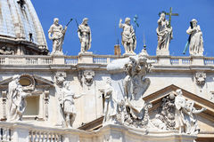 St. Peter's square in Vatican City. Rome.Italy, Europe Stock Photography