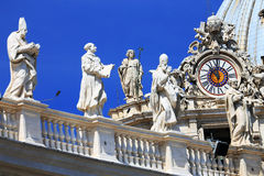 St. Peter's square in Vatican City. Rome.Italy, Europe Stock Photos