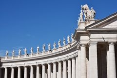 St. Peter's Square - Vatican City Stock Photos