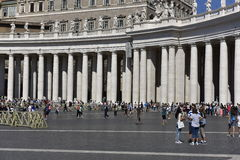 St. Peters Square, Vatican, Europe Stock Images
