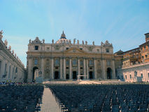 St. Peter's Square at the Vatican. Stock Images