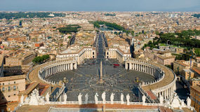St Peter's Square in Vatican, Rome Stock Photography