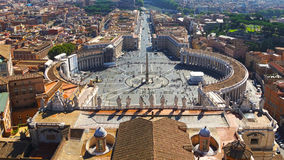 St. Peter's Square at the Vatican, Rome, Italy Royalty Free Stock Photos
