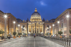 St. Peter`s Square, Vatican, Rome, Italy. St. Peter`s Square ,Vatican, Rome, Italy, Renaissance architecture. One of the popualr touristic destinations in Rome Stock Images