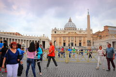 St Peter`s square Vatican Rome Italy royalty free stock photo