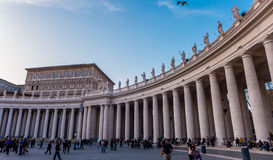 St. Peter's Square in the Vatican Stock Photography