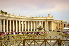 St. Peter`s Square view Vatican Royalty Free Stock Photos