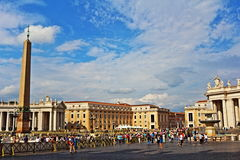 St Peter`s square view Vatican Rome Italy Stock Images