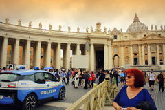 St. Peter`s square view Vatican Stock Photo