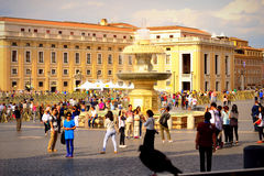 St Peter`s square view Vatican stock photography