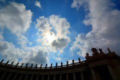 St. Peters statues silhouette. Vatican City Stock Image