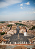 St. Peter's from street look Royalty Free Stock Photos