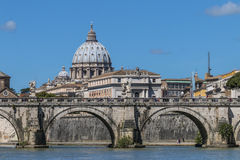 St. Peter's from the Tiber Royalty Free Stock Image