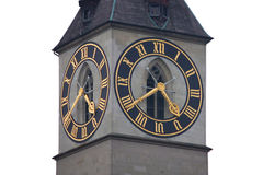 St. Peter's Tower Clock Royalty Free Stock Photography