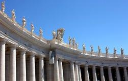 St Peter ` s Vierkant, de Stad van Vatikaan, Rome Stock Fotografie