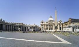 St Peter Squar, Vaticano fotografía de archivo libre de regalías