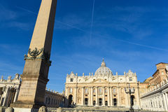 St Peter square basilica  and colonnade Stock Photography