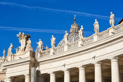 St Peter square basilica  and colonnade Stock Images