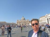 St Peter Square Piazza San Pietro a Citt? del Vaticano fotografia stock libera da diritti