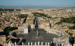 St. Peter Square in Rome, Italy Royalty Free Stock Photo