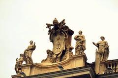 St. Peter square saints statues Vatican Stock Photo