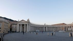 St. Peter Square. Sunrise. Panorama, Rome, Italy stock video