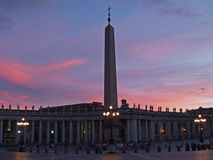 St. Peter Square at Sunset Stock Photography