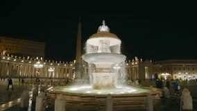 St. Peter square in Vatican stock video footage