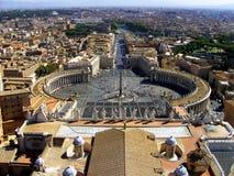 St Peter Square - Vaticanen Arkivbild