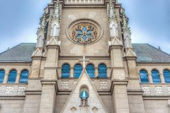 Mar del Plata`s Cathedral, Buenos Aires, Argentina Stock Images