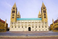 St Peter and St Paul Baisilica, Pecs, Hungary. Royalty Free Stock Image