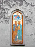St.Peter & St.Paul cathedral fresco. (location: Ukraine, Lugansk Stock Photo