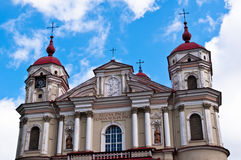 St. Peter and St. Paul Church in Vilnius, Lithuania Stock Photography