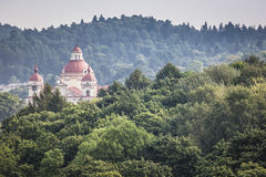 St. Peter and St. Paul's Church aerial view, Vilnius, Lithuania Stock Images