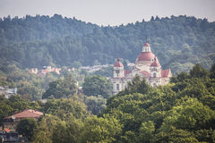 St. Peter and St. Paul's Church aerial view, Vilnius, Lithuania Stock Photography
