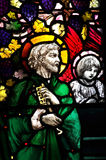 St. Peter in stained glass Stock Images