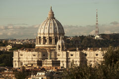 St. Peter (Vatican City, Rome - Italy). Aerial. Aftermoon Stock Photo
