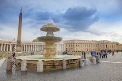 ST.PETER VATICAN ROME ITALY - NOVEMBER 8 : tourist taking a phot. O in front of st,peter basilica church on november 8 , 2016 in rome italy Royalty Free Stock Images