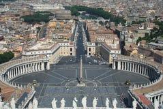 St. Peter Vierkant, de Stad van Vatikaan, Rome Stock Fotografie