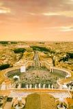 St.Peter Vierkant en Rome stock afbeeldingen