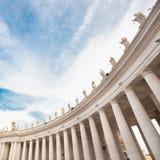 St Peter Vierkant in Vatikaan rome Royalty-vrije Stock Afbeelding