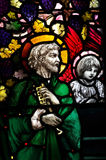 St Peter w witrażu Obrazy Royalty Free
