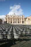 St Peter & x27; cidade do quadrado de s de Vaticano Foto de Stock Royalty Free